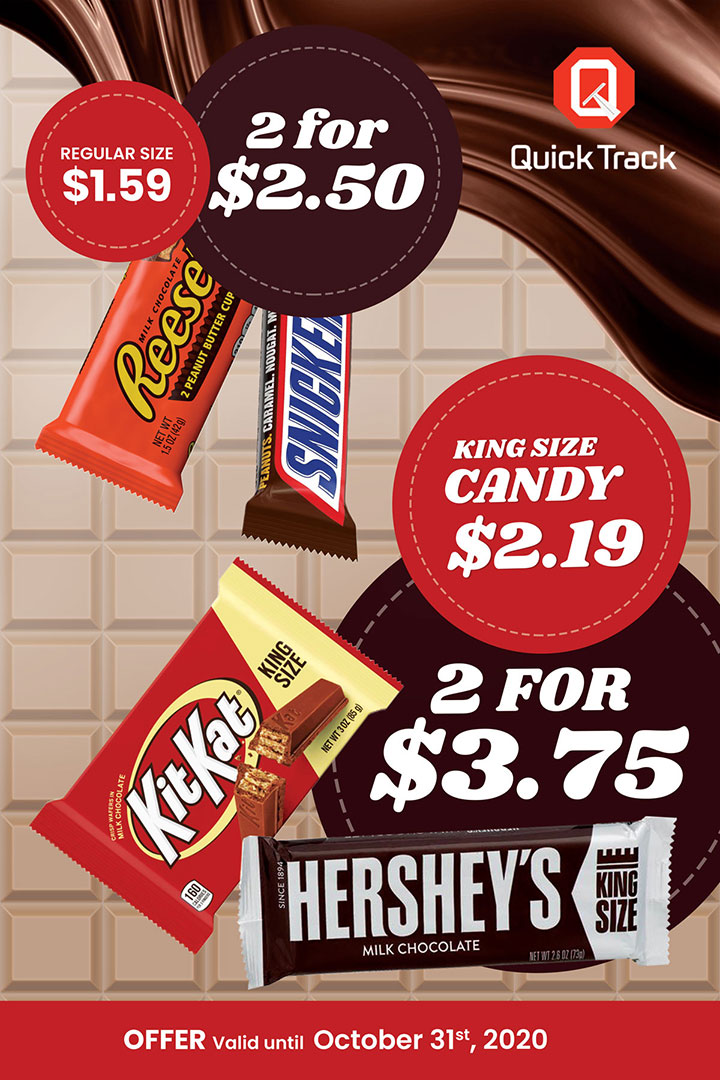 Reese's, KitKat, Hershey's, Snickers