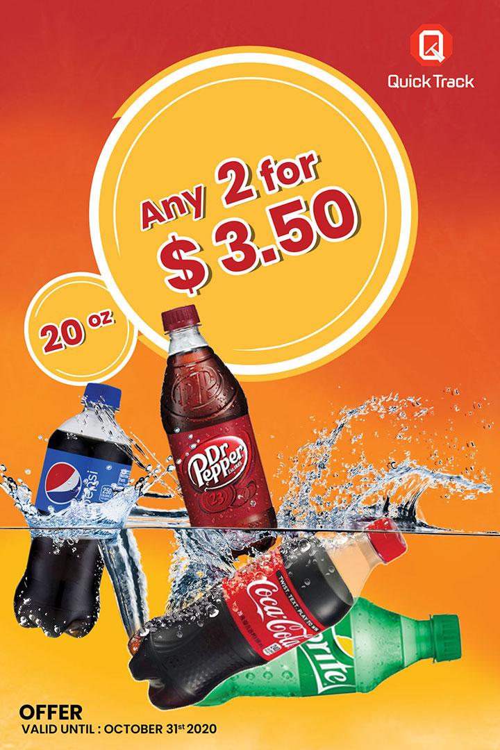 Pepsi, Dr pepper, Coca Cola, Sprite