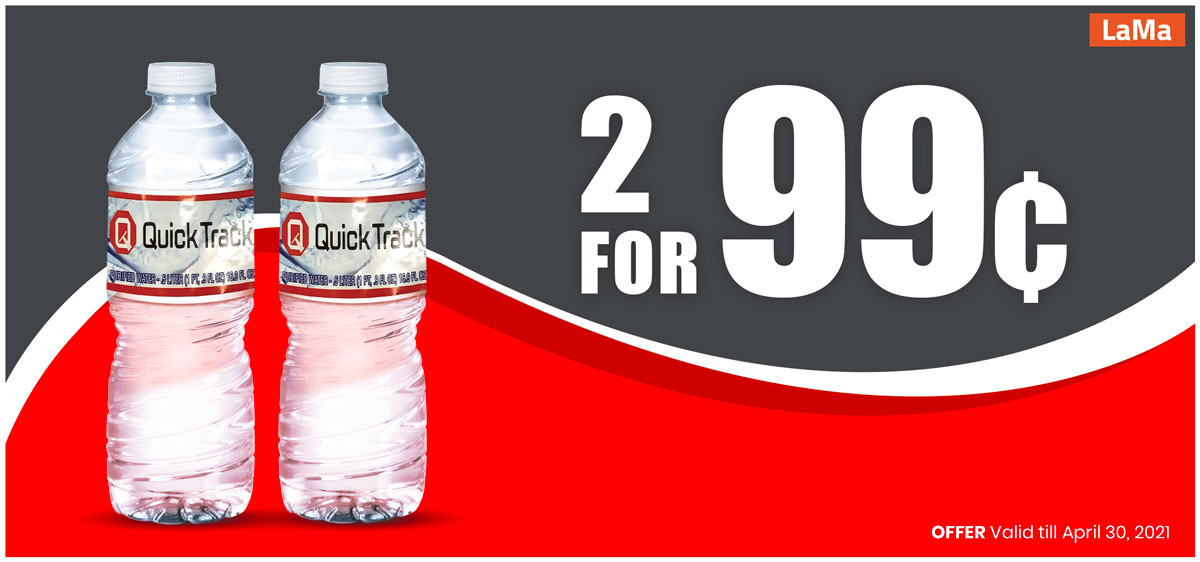 Mineral water, 2 for 99 cents